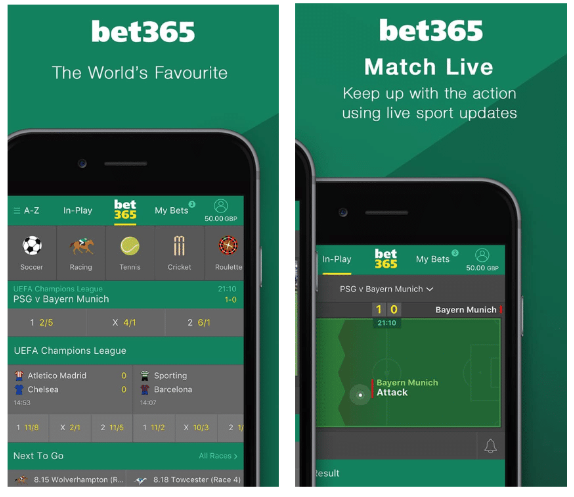 bet365 features