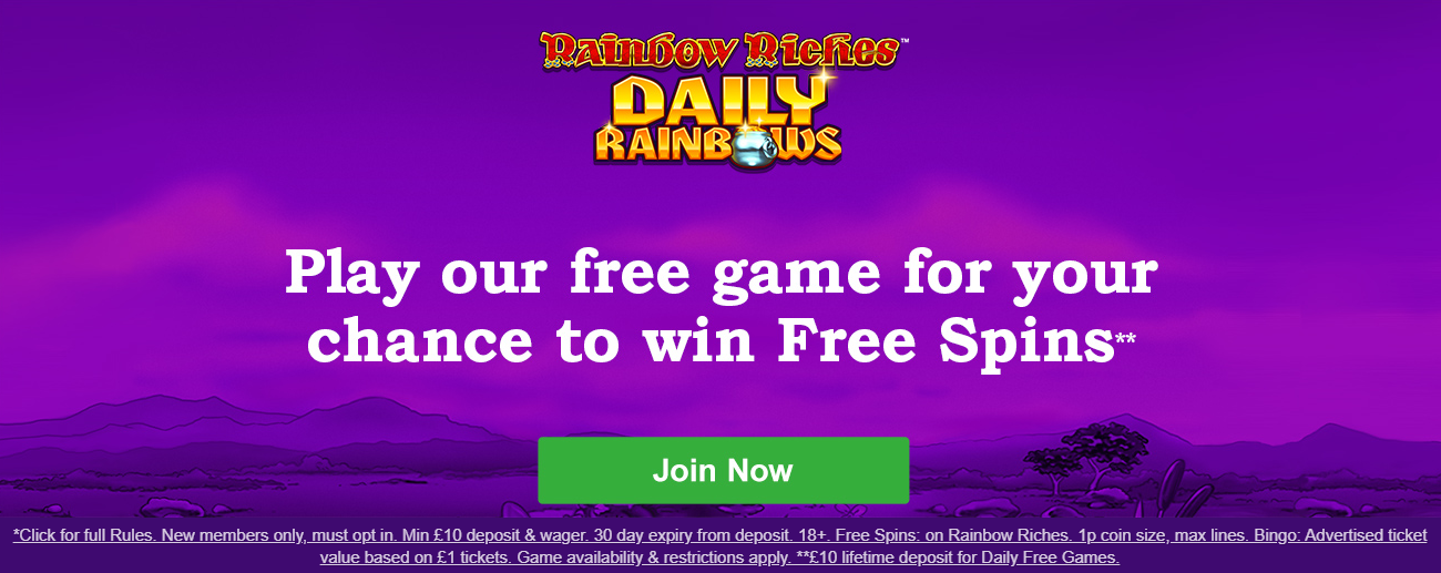 Rainbow Riches Casino Promo Code for UK Players