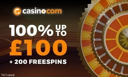 Casino.com Promo Code SPINMAX for the welcome offer