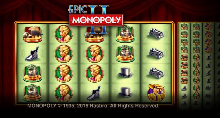 epic II Monopoly slots game