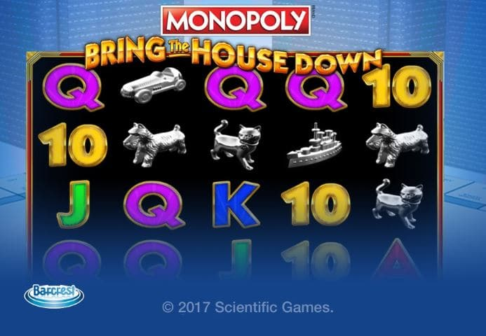 monopoly casino bring the house down slots game