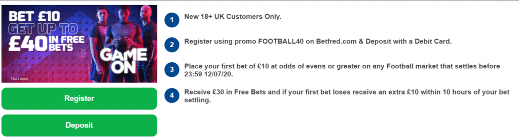 betfred sign up offer