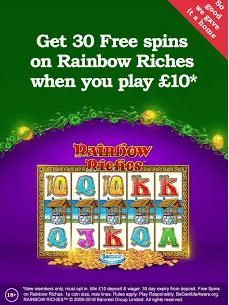 Rainbow Riches Casino Welcome Offers 2020 on Mobile